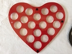 Hearts Casino Poker Chips Frame Wall Hanging Display