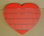 DECKZIBITS HEARTS Playing Cards Display Case WALL HANGING